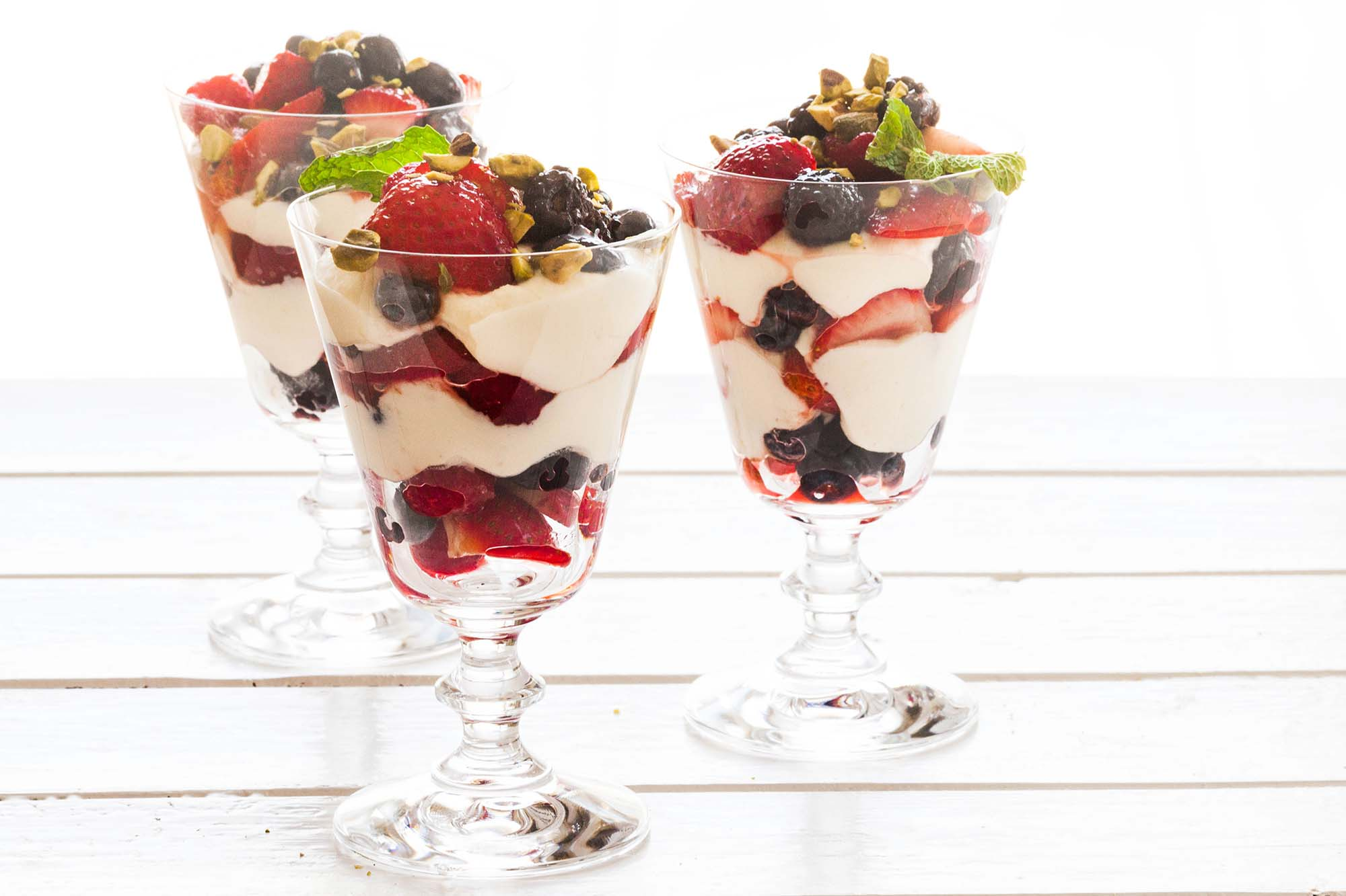 Ricotta and Summer Berry Parfaits