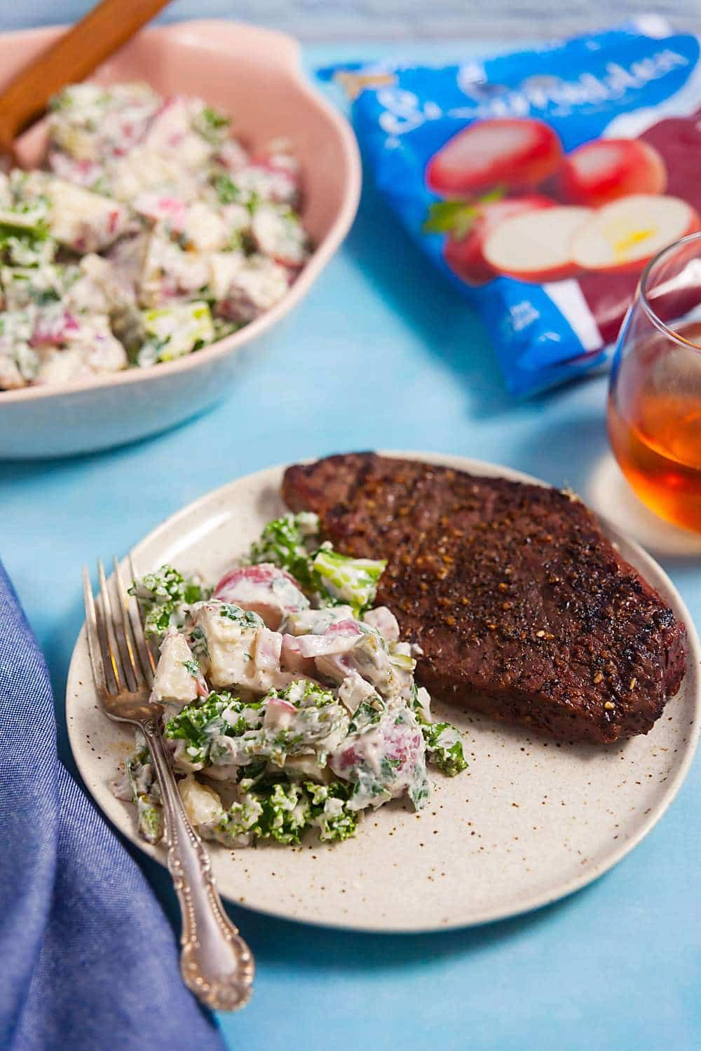 Red Potato Salad with Chimichurri and Spring Vegetables