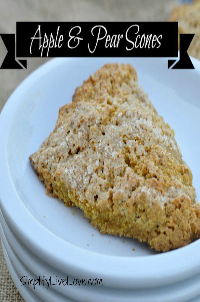 Apple & Pear Scones with Whole Grains