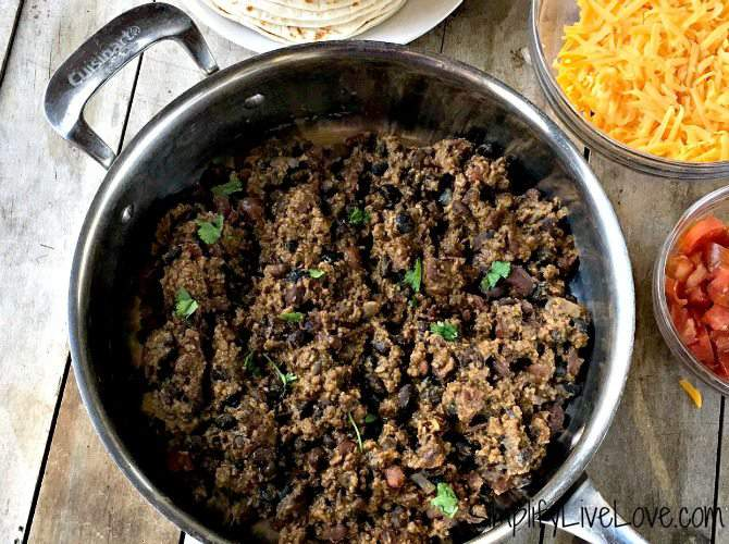 Our Favorite Taco Meat – Large batch recipe perfect for the freezer