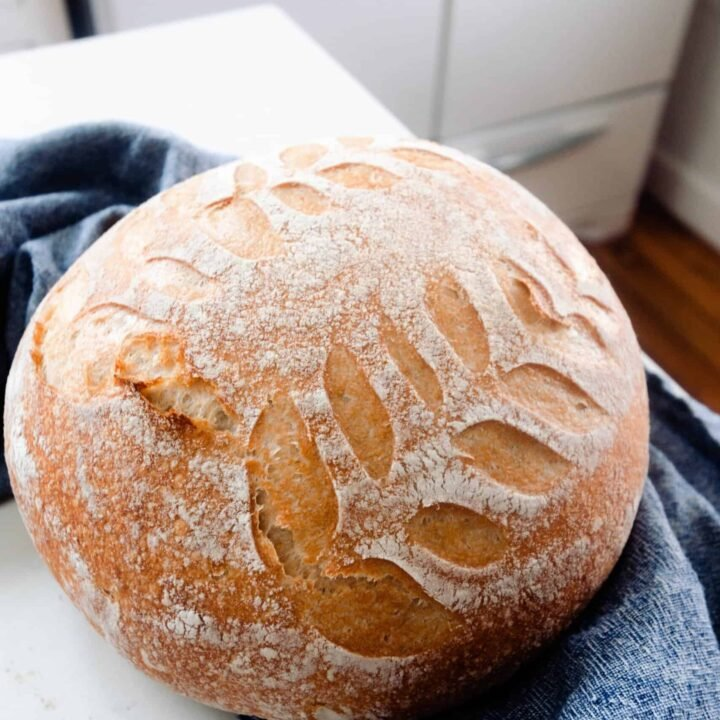 No-Knead Sourdough Bread